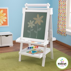 Caballete ajustable de madera color blanco de Kidkraft
