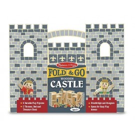 Castillo medieval plegable con accesorios de Melissa and Doug