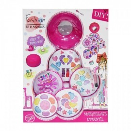 Set maquillaje fashion infantil 5 pisos, de Fentoys