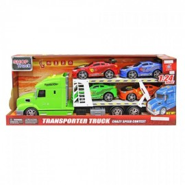 Camion transporta coches