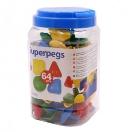 Superpegs 64 pcs, de Miniland