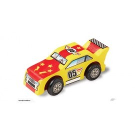 Auto de carreras de madera de Melissa and Doug