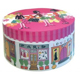 Caja musical oval chicas